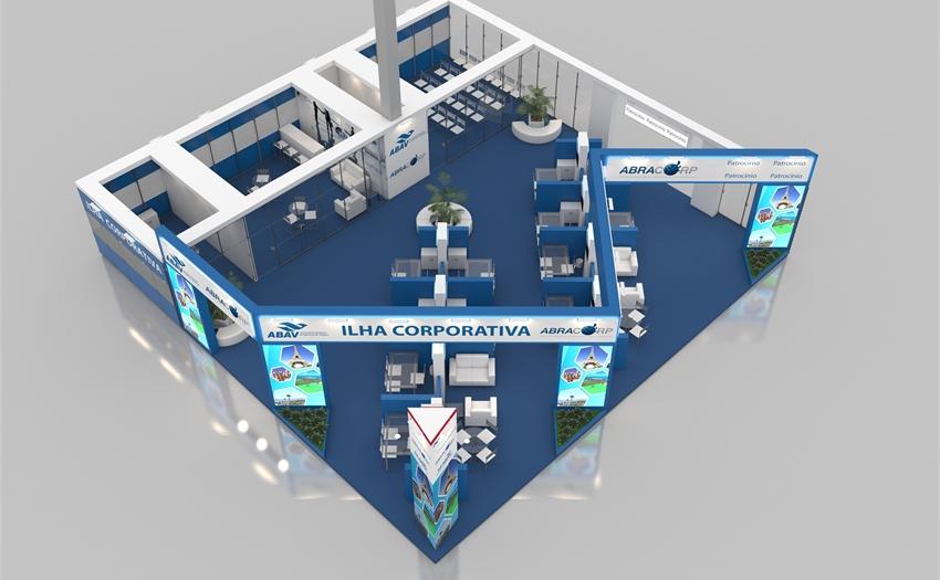 Conheça o espaço que a Ilha Corporativa Abracorp ocupará na ABAV Expo 2017